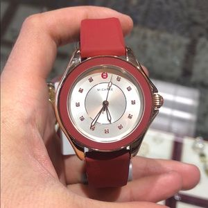 Red and Rose gold Michele Watch!!! (Jelly Bean)!!!